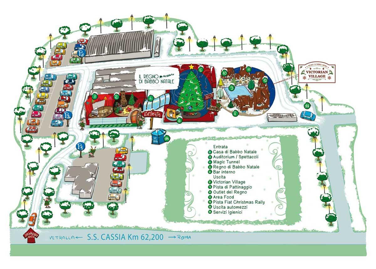 Babbo Natale Mappa.Il Regno Di Babbo Natale La Casa Di Babbo Natale A Vetralla